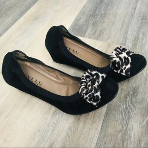 Anyi Lu wedge Ballet bowed shoes